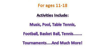 Friday Night Youth Club - 7-9pm - ages 11-18 -at the youth suite on the green in Yateley