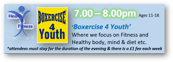 7-8pm - ages 11-18 - at the youth suite on the green in Yateley